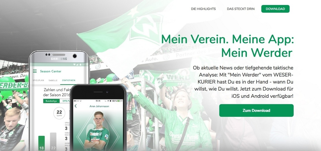"Screenshot All ""Mein Werder"" (Foto: Werder Bremen)"