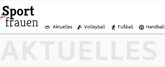 Screenshot der Sportfrauen-Website (Foto: sportfrauen.net)