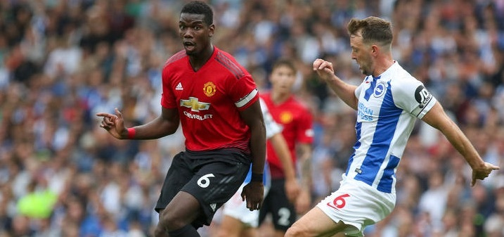 ManUnited-Superstar Paul Pogba (links) im Einsatz (Foto: firo sportphoto/Augenklick)