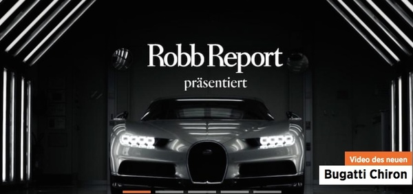Screenshot der Website des Robb Reports Germany (Foto: Robb Report)