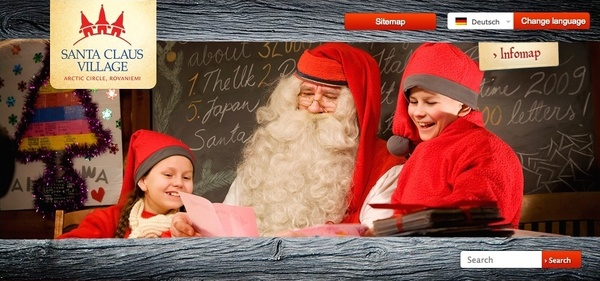Santaclausvillage-Website (Foto: Screenshot)
