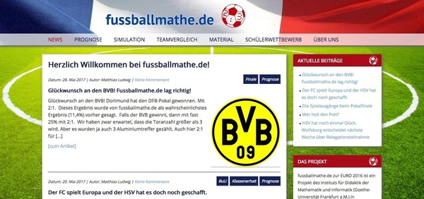 Fussballmathe-Website (Foto: Screenshot)