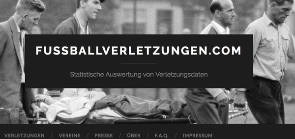 Website fussballverletzungen.com (Foto: Screenshot)
