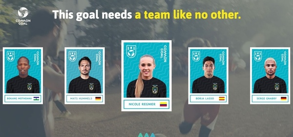 "Website der Initiative ""Common Goal"" (Foto: Screenshot)"