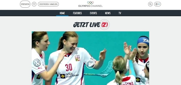 Website des Olympic Channels (Foto: Screenshot)