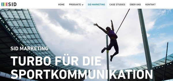 Website der SID Marketing (Foto: Screenshot)