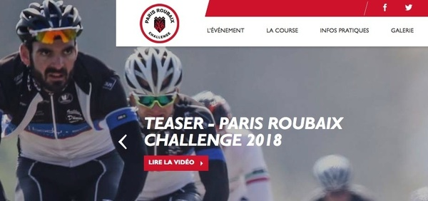 Screenshot der Website Paris Roubaix Challenge (Foto: Veranstalter)