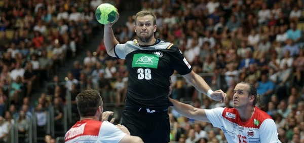 Handball-Nationalspieler Fabian Böhm in Aktion (Foto: sampics Sportphotographie/Augenklick)