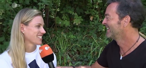 Martin Wolff und Angelique Kerber im Interview (Foto: Screenshot YouTube/ZDF-Video)